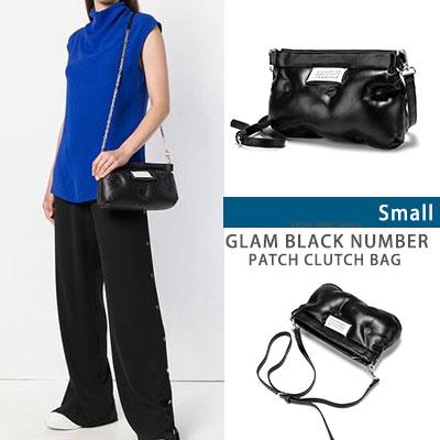 グラムブラックナンバーパッチクラッチバッグ -S size