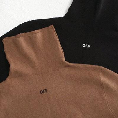 《only VIP》LINE off logo turtleneck knit