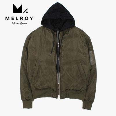 【MELROY】ダックダウンフードMA-1ジャケット (2color)