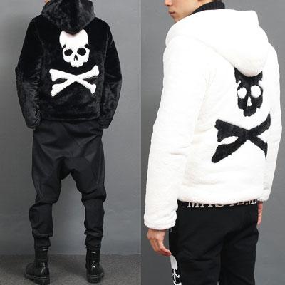 《only VIP》LINE Skull Fur jacket