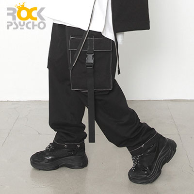 【ROCK PSYCHO】ブラックカーゴパンツ