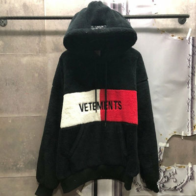 《only VIP》LINE vet x tommy double side grey hoodie-black