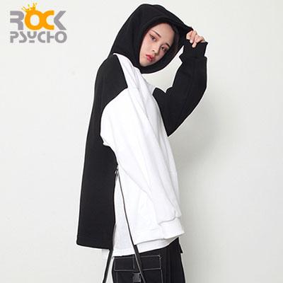 【ROCK PSYCHO】リングジッパーフーディー - white