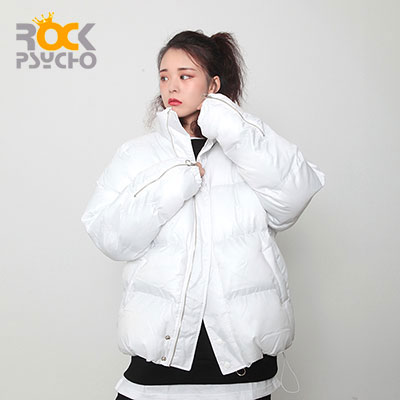 【ROCK PSYCHO】リングショートダウンジャケット - white