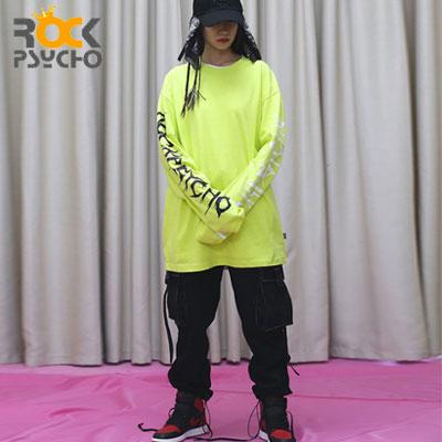 【ROCK PSYCHO】両サイドレタリングロングスリーブ -neon (2size)