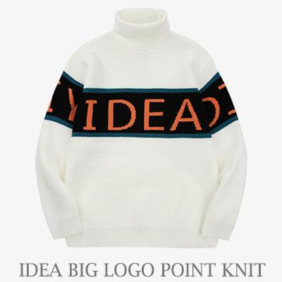 [UNISEX] IDEA ビッグロゴポイントのニット (2color)