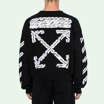 [裏起毛][UNISEX] エアポートバゲージテープスウェットシャツ (2color)
