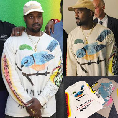 《only VIP》LINE kanye west capsule collection bird long tshirts