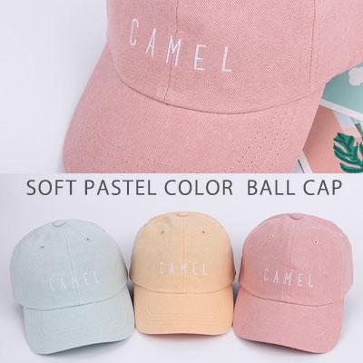 [UNISEX] ソフトパステルカラーボールキャップ(5color)