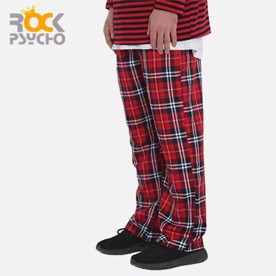 【ROCK PSYCHO】フランネルパンツ-red