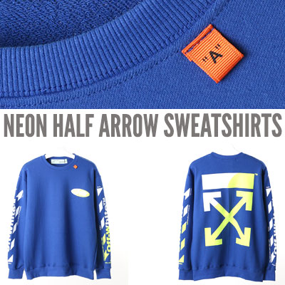 [UNISEX] ネオンハーフアロースウェットシャツ
