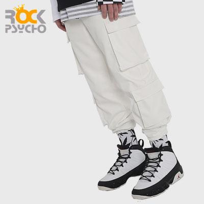 【ROCK PSYCHO】PUカーゴパンツ -white