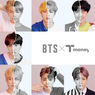 《送料無料》【当日配送】[限定版][BTS×CU]防弾少年団(BTS) T Money Card [交通カード]