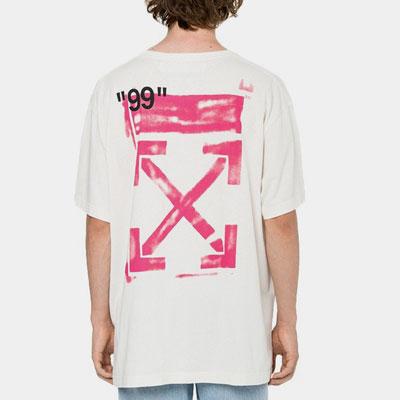 [UNISEX] ピンクアロー99プリントショートスリーブTシャツ/半袖(2color)
