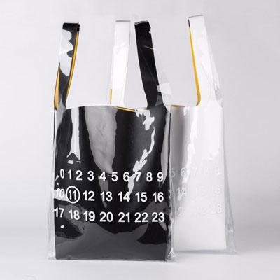 [UNISEX] ナンバリングプリントプラスチックバッグ (2color)