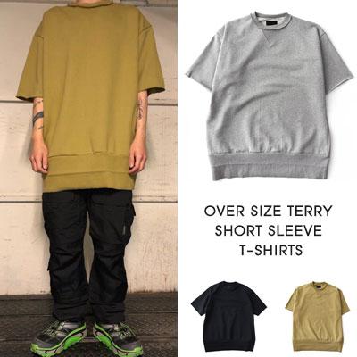 [UNISEX] オーバーサイズテリーショートスリーブTシャツ/半袖 (3color)
