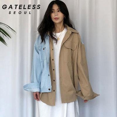 【GATELESS】フェイクダブルレイヤードジャケット (2size)