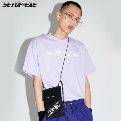 【SETUP-EXE】Reflective lettering T-shirt - purple