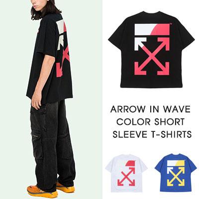 [UNISEX]アローウェーブカラーショートスリーブTシャツ(3COLOR)