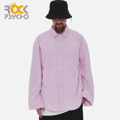 【ROCK PSYCHO】オーバーサイズシャツ-pink
