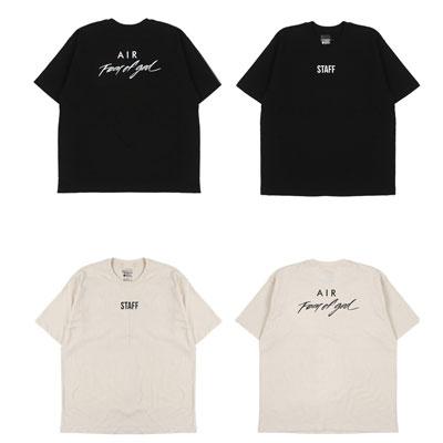 [UNISEX]フロントスタッフプリントポイント半袖Tシャツ(2color)
