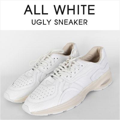 [25.0 ~ 28.0cm] ALL WHITE UGLY SNEAKER