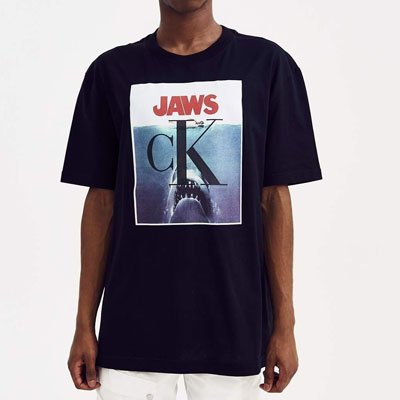 [UNISEX]シャークプリント半袖Tシャツ(2color)