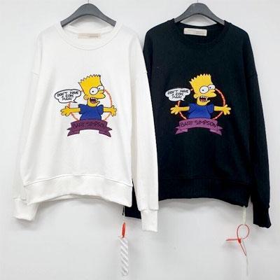 [UNISEX]BART SIMPSONバートシンプソン刺繍スウェットシャツ(2color)