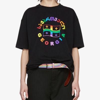 [UNISEX]レインボーロゴ半袖Tシャツ(2color)