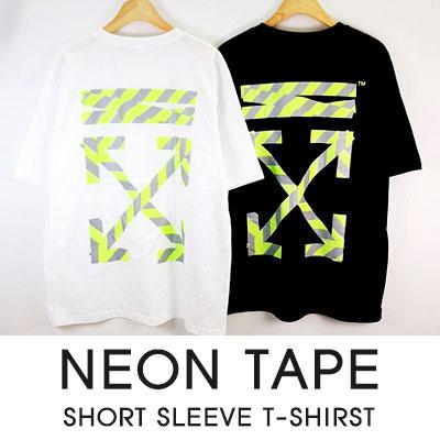 [UNISEX]ネオンテープ半袖Tシャツ(2color)