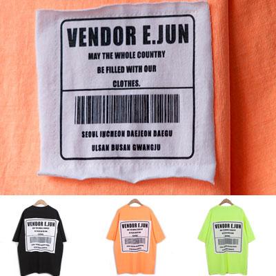 [UNISEX]レタリングパッチプリント半袖Tシャツ(3color)