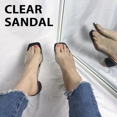 [22.5 ~ 25.0cm] クリアサンダル (3color)