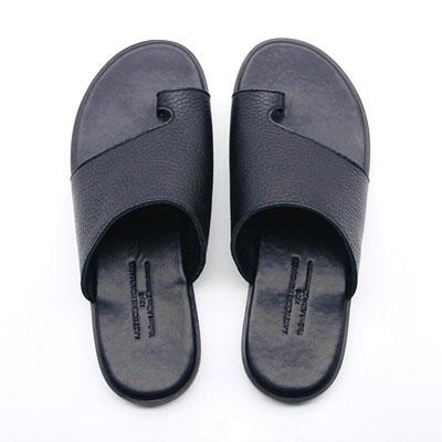 [25.0 ~ 28.0cm] シュリンク革 スリッパ-black