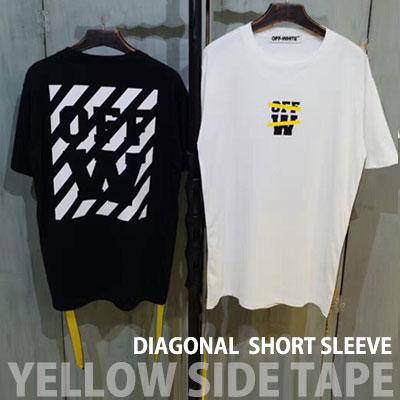 イエローサイドテープショートスリーブTシャツ/半袖