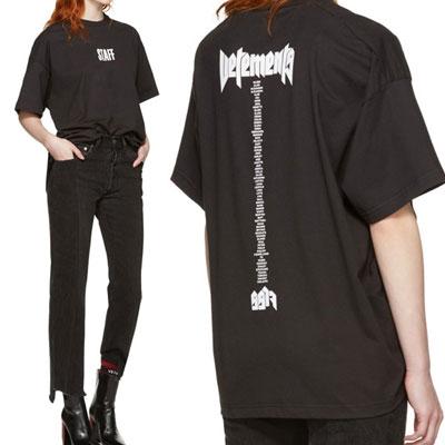 staffロゴテールプリントショートスリーブTシャツ/半袖