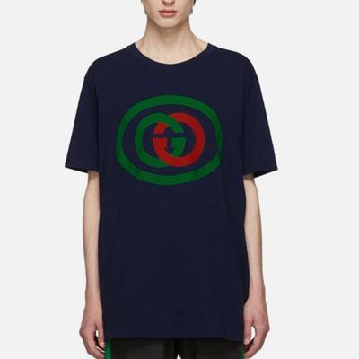 [UNISEX]レッド&グリーンサークル半袖Tシャツ(2color)