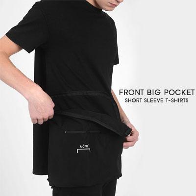 [UNISEX]フロントビッグポケット半袖Tシャツ