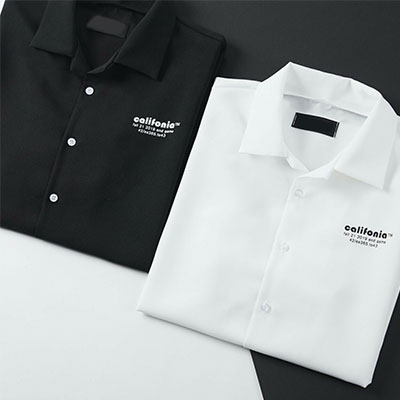 [UNISEX]カリフォルニアスモールロゴシャツ(2color)