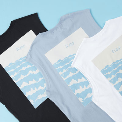 [UNISEX]SURF WAVE プリントタンクトップ(3color)