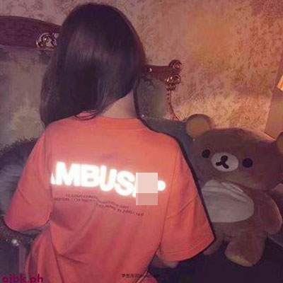 [UNISEX]リフレクタービッグロゴ バックプリント半袖Tシャツ(4color)