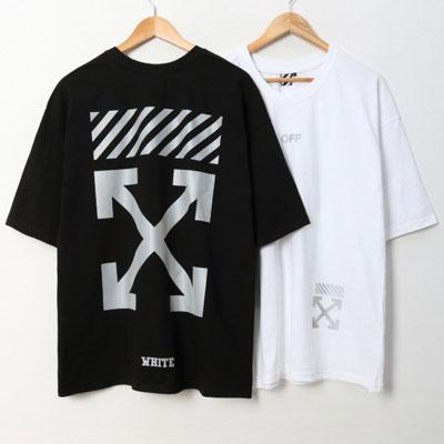 [UNISEX]リフレクティブARROW半袖Tシャツ(2color)