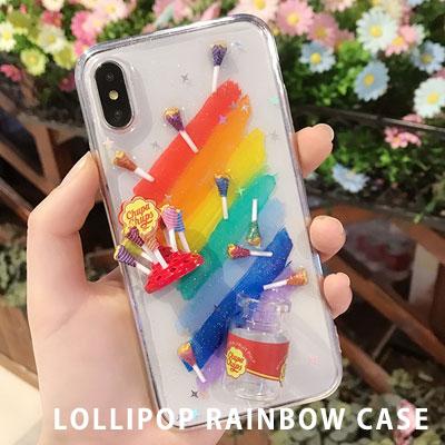 ロリポップレインボーiPhone スマホケース/スマホカバー/Galaxy