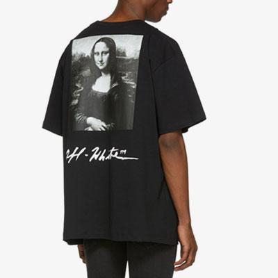 [UNISEX]モナリザプリント半袖Tシャツ(2color)