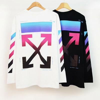 [UNISEX]グラディエントアロー 長袖Tシャツ(2color)