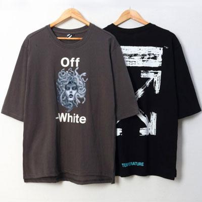 [UNISEX]メデューサプリント半袖Tシャツ(2color/3size)