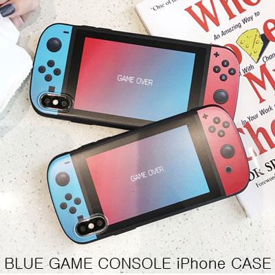 レッドブルーゲームコンソールスマホケース/スマホカバー