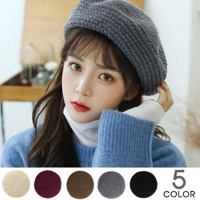 [UNISEX]ハンドメイドベレー帽(5color)