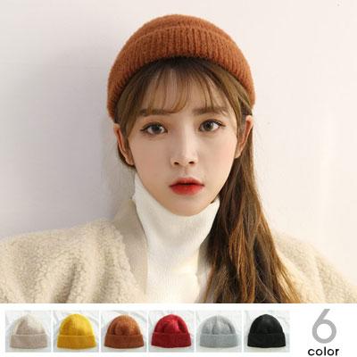 [UNISEX]ソフトアンゴラビーニー/ニット帽(6color)