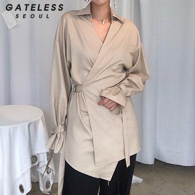 【GATELESS】トレンチスタイルシャツ(2color)