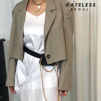 【GATELESS】ダメージショートジャケット/ショートパンツ(2color)